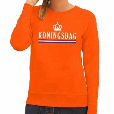 Oranje koningsdag hollandse vlag trui dames