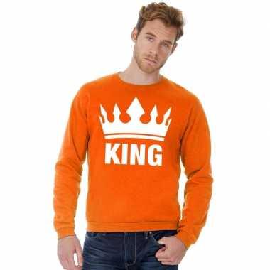 Oranje koningsdag king trui heren