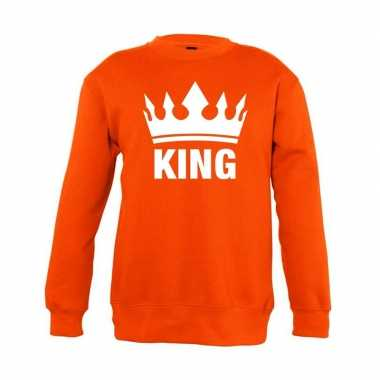 Oranje koningsdag king trui kinderen