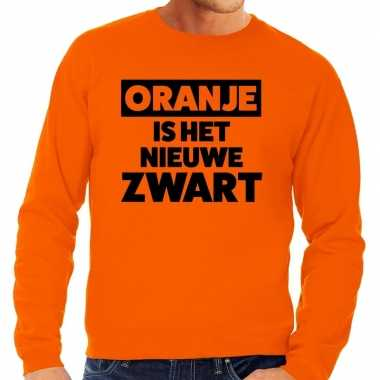 Oranje koningsdag oranje is nieuwe zwart trui heren