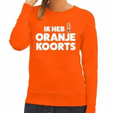 Oranje koningsdag oranje koorts trui dames