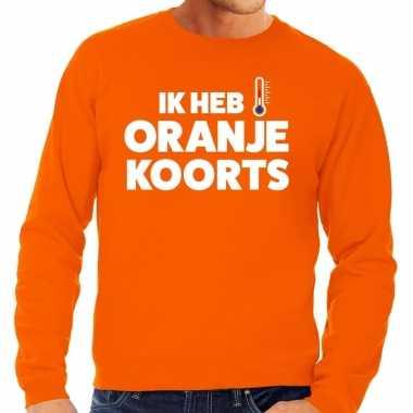 Oranje koningsdag oranje koorts trui heren