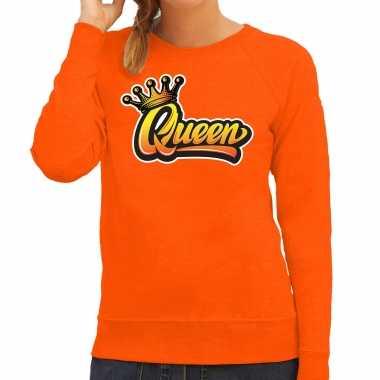 Oranje koningsdag queen trui / trui dames