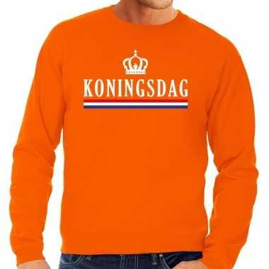 Oranje koningsdag trui heren