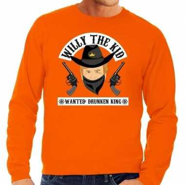 Oranje koningsdag willy the kid trui heren
