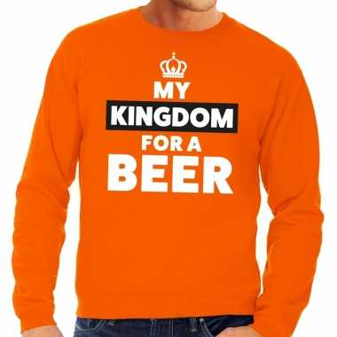 Oranje my kingdom for a beer trui heren