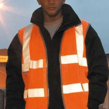 Oranje reflecterend veiligheidstrui
