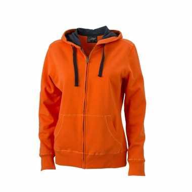 Oranje sweattrui dames