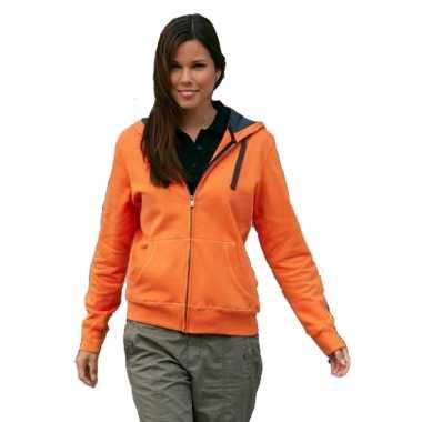 Oranje vest/trui ritssluiting dames