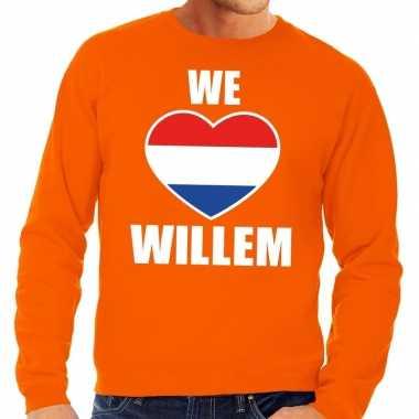 Oranje we love willem trui heren