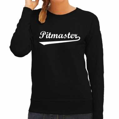 Pitmaster bbq / barbecue cadeau trui / trui zwart dames