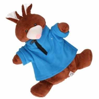 Pluche kruik bruin konijn trui