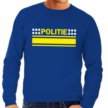 Politie logo trui blauw heren