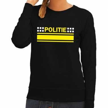 Politie logo trui zwart dames
