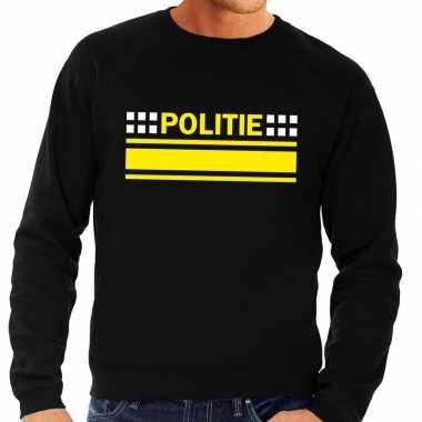 Politie logo trui zwart heren