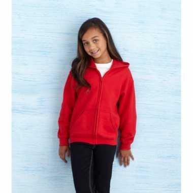 Rode capuchon trui meisjes