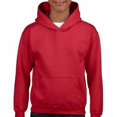 Rode capuchon trui voor meisjes