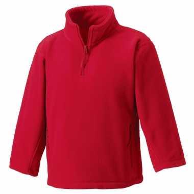 Rode fleece trui voor jongens