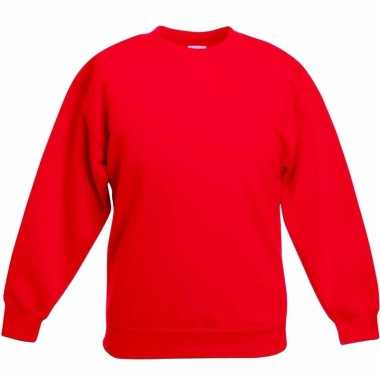 Rode katoenmix trui voor meisjes