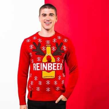 Rode kerst trui reinbeer heren