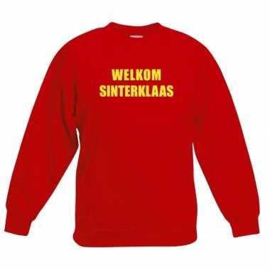 Rode sinterklaas trui / trui welkom sinterklaas kinderen