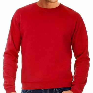 Rode trui / sweatshirt trui grote maat ronde hals heren