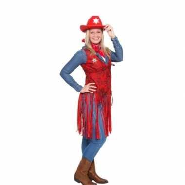 Rood cowgirl truije kostuum