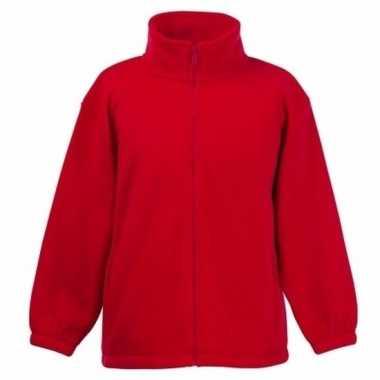 Rood fleece trui jongens