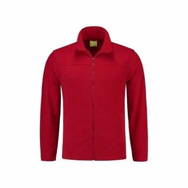 Rood fleece trui rits volwassenen