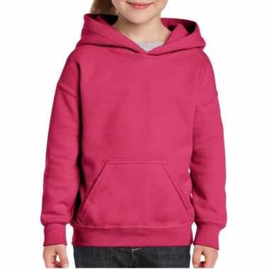 Roze capuchon trui voor meisjes