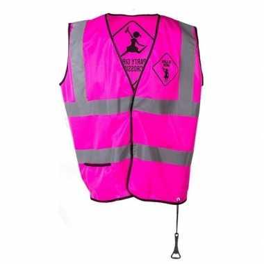 Roze veiligheidstruije party girls dames