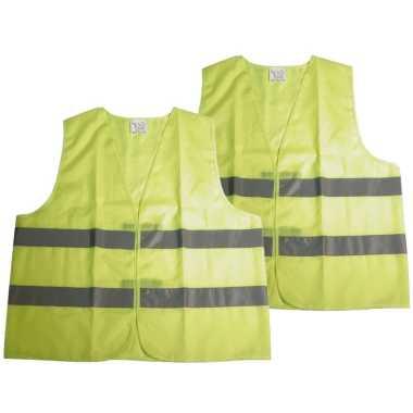 Set stuks neon geel veiligheidstrui volwassenen