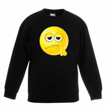 Smiley trui bedenkelijk zwart kinderen