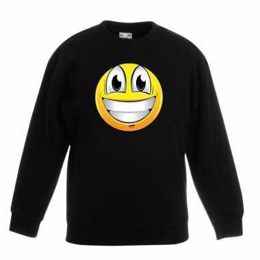 Smiley trui super vrolijk zwart kinderen