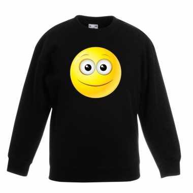 Smiley trui vrolijk zwart kinderen