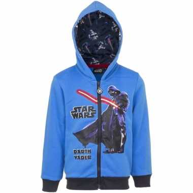 Star wars trui met rits blauw