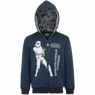 Star wars trui met rits donkerblauw