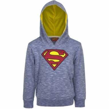 Superman capuchon trui blauw voor jongens