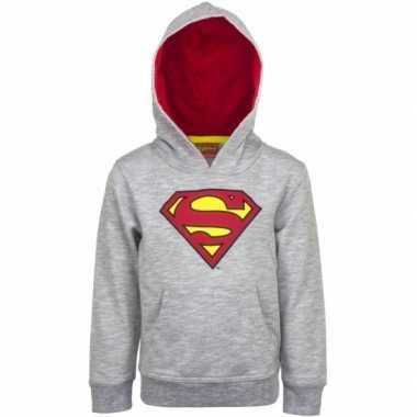 Superman capuchon trui grijs voor jongens