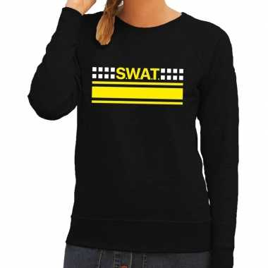 Swat team logo trui zwart dames