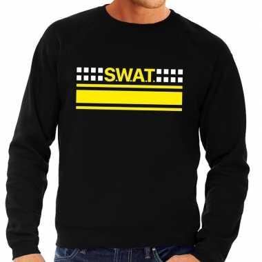 Swat team logo trui zwart heren