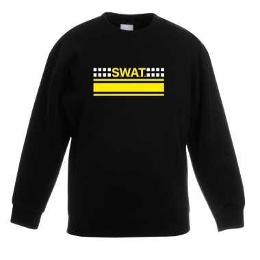 Swat team logo trui zwart kinderen