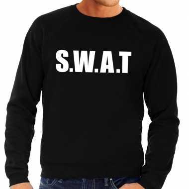 Swat tekst trui / trui zwart heren
