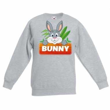 Trui grijs kinderen bunny konijn