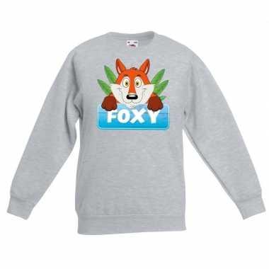 Trui grijs kinderen foxy vos