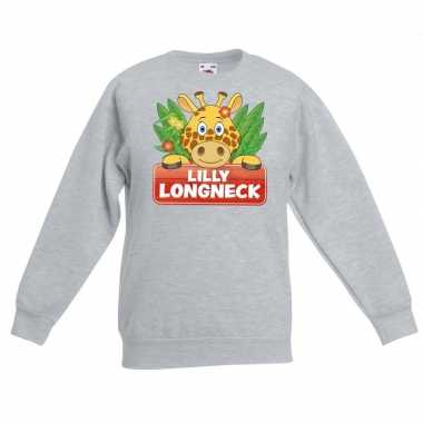 Trui grijs kinderen lilly longneck giraffe