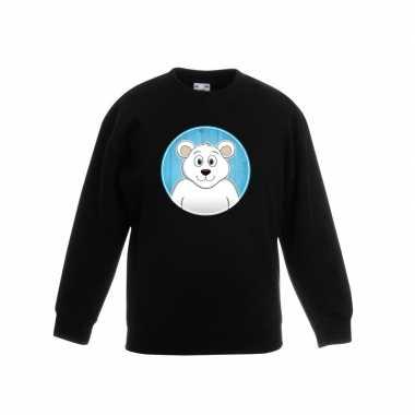 Trui ijsbeer zwart kinderen