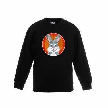 Trui konijn zwart kinderen