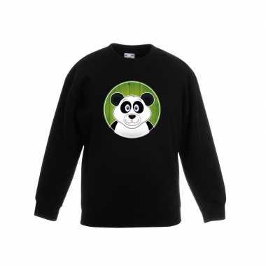 Trui panda zwart kinderen