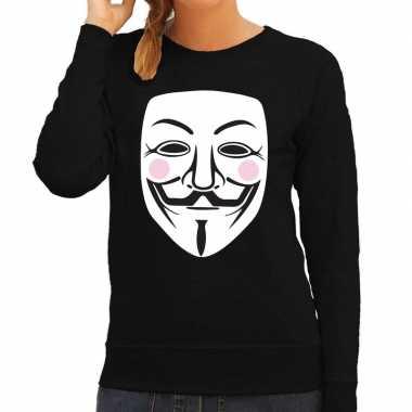 V for vendetta masker trui zwart dames